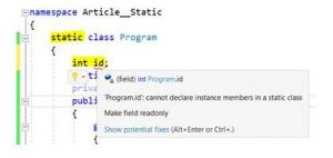 C# program using static class